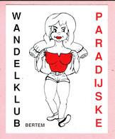 Sticker - Wandelklub Paradijske - Bertem - Autocollants