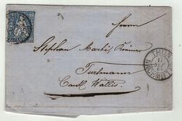 Suisse // Schweiz // Switzerland //  Helvétie Assise //  Lettre De Thun Pour Turtmann Le 17.09.1864 - 1862-1881 Sitted Helvetia (perforates)