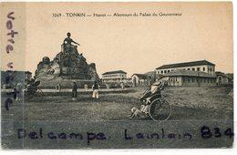 - 3069 - Tonkin - Indochine - Hanoi, Alentours Du Palais, Non écrite, Place, Pousse Pousse, Non écrite, TBE, Scans... - Viêt-Nam