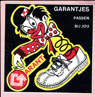 Sticker - GARANTJES Passen Bij JOU - GARANT Schoenen - Clown - Autocollants