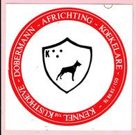 Sticker - Kennel V/d Kusthoeve - DOBBERMANN - Africhting - KOEKELARE - Autocollants
