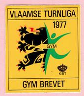 Sticker - VLAAMSE TURNLIGA 1977 - GYM BREVET - Autocollants
