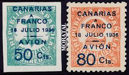 1937 España C-11A/12A Sellos Republica Habilitados Canarias (*)MNG Buen Estado  (Edifil) - Asturias & Leon