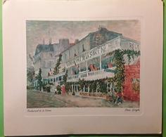 Carte Double De Voeux Illustrée Peinture De VAN GOGH, Restaurant De La Sirène,  1962, TB - Malerei & Gemälde
