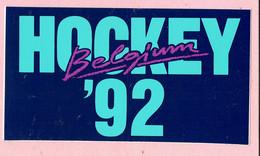 Sticker - HOCKEY Belgium 1992 - Autocollants