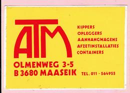 Sticker - ATM Aanhangwagens - Olmenweg MAASEIK - Autocollants