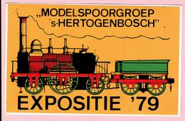 Sticker - MODELSPOORGROEP 's-HERTOGENBOSCH - EXPOSITIE 1979 - Autocollants