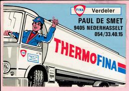 Sticker - FINA Verdeler PAUL DE SMET - NEDERHASSELT - THERMOFINA - Autocollants