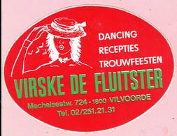 Sticker - DANCING RECEPTIES TROUWFEESTEN - VIRSKE DE FLUITSTER - Mechelsesteenweg Vilvoorde - Autocollants