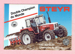 Sticker - STEYR Tractor - Double Champion Du Monde - Autocollants