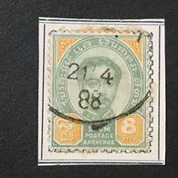 ◆◆◆SIAM  1887  King Chulalongkorn    8a  USED  AA5814 - Tailandia