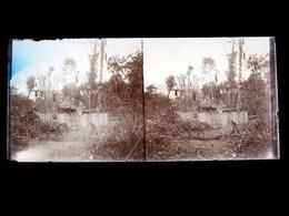 INDOCHINE   Négatif Photo Sur Ancienne Plaque De Verre  -   Sépulture D'un Chef Laotien -  N° 1354 - Plaques De Verre