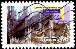 Oblitération Moderne Sur Adhésif De France N°  561 - Art Gothique - Cathédrale Notre Dame à Rouen - France