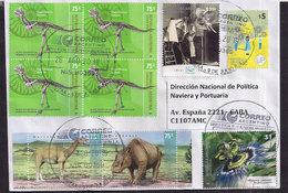 Argentina - 2019 - Dinosaures - Animaux Préhistoriques - Fossiles - Mammifères Cénozoïques - Timbres Divers - Briefmarken