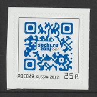 RUSSIA 2012 Winter Olympic Games, Sochi S/ADH: Single Stamp UM/MNH - 1992-.... Fédération