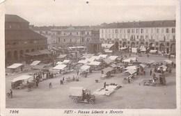 Asti - Piazza Leberta E Mercato Vintage Postcard - Asti