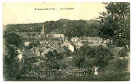 60140 LIANCOURT - Lot De 2 CPA - 2 Tirages De La Même Vue Générale Par Vandenhove - Liancourt