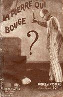 La Pierre Qui Bouge Par Marcel Vigier -collection Police Et Mystère (1ère Série) N°137 - Ferenczi