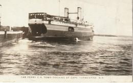 Car Ferry C. H. Town (Charlottetown) Docking At Cape Tormentine, New Brunswick  R. P. P. C. - Ferries