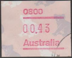 AUSTRALIA - USED  1990 43c Koala Paper Frama Label - Animal - 1990-99 Elizabeth II