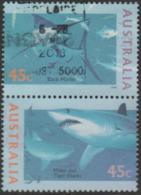 AUSTRALIA - USED  1995 45c World Down Under Se-tenant Pair - Fish - 1990-99 Elizabeth II