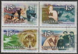 AUSTRALIA - USED  1999 45c Snowy Mountains Scheme Block Of Four - Hydro Dams - 1990-99 Elizabeth II