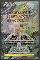 PAKISTAN 1966 BROCHURE WITH STAMP FIRST ATOMIC REACTOR - Pakistan