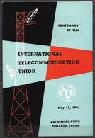 PAKISTAN 1965 BROCHURE WITH STAMP INTERNATIONAL TELECOMMUNICATION UNION - Pakistan