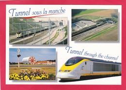 Modern Multi View Post Card Of Le Tunnel Sous La Manche;The Channel Tunnel,Coquelles, Pas-de-Calais,France,L63. - Calais