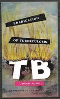 PAKISTAN 1967 BROCHURE WITH STAMP ERADICATION OF TUBERCULOSIS T B - Pakistan