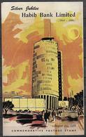 PAKISTAN 1966 BROCHURE WITH STAMP SILVER JUBILEE HABIB BANK LIMITED - Pakistan