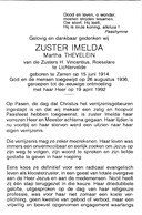 Zuster, Soeur, Martha Thevelein, Lichtervelde, Zarren, - Religion & Esotérisme