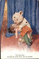 11052810 Vermenschlicht Kuss Poesie Puppe Vermenschlicht - Künstlerkarten