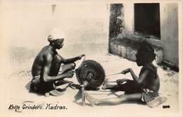 India Knite Grinders Madras Postcard - India