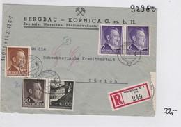 GG: Einschreiben Bergbau Nach Zürich, Zensur - Occupation 1938-45