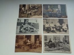 Beau Lot De 10 Cartes Postales Thème  Dentellières  Dentellière Bruges  Mooi Lot Van 10 Postkaarten Kantwerkster Brugge - Postkaarten