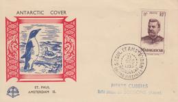 Enveloppe   FDC  T.A.A.F   Oblitération  :  SAINT  PAUL  ET  AMSTERDAM  31  Décembre  1953 - FDC