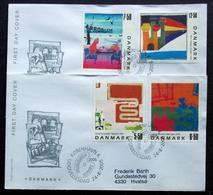 DENMARK 2005  KUNST   MInr.1408-11  FDC   ( Lot  Ks ) FOGHS COVER - FDC