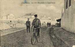 Casablanca La 1ere Bicyclette à Casablanca Militaire RV Cachet  Regence De Tunis DonGen Des Travaux Publics Port Tabarka - Casablanca