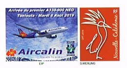 Nouvelle Caledonie New Caledonia Timbre Personnalise Timbre A Moi Prive Club Le Cagou Aircalin Avion Airbus A33 Unc Neuf - Altri