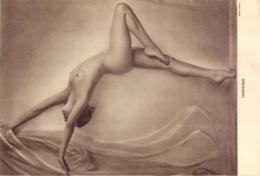 FEMME NUE HARMONIE PHOTO GLOBE  PAGE EXTRAIT D'UNE REVUE FORMAT 26 X 18  CM - Erotic (...-1960)