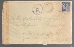 25700 B -  Pour L'EGYPTE Avec Censure - Postmark Collection (Covers)