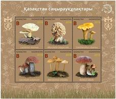 Kazakhstan 2019.Souvenir Sheet. Mushrooms Of Kazakhstan. NEW!!! - Mushrooms