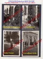 FOCSANI-Fokschan-TYPES Pittoresques-4 Petites PHOTOS Allemandes-Guerre14-18-1WK-Militaria-Commerce-Vrancea- - Roumanie
