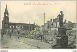 54. BACCARAT . La Rue Des Ponts . L'église Et La Statue De La Liberté . - Baccarat