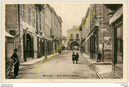 32. MIRANDE . Rue D'AUCH .  CPA Glacée (type PHoto). - Mirande
