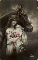 Frau Mit Pferd - Horses