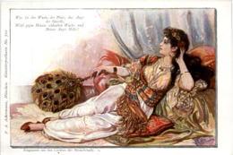 Künstlerkarte Mirza Schaffy - Woman - Künstlerkarten