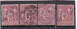 # Z.10865 France Republic 1876 - 78 Type I. 4 X Value 75c Used, Yvert 71, Michel 66: Pax & Mercur - 1876-1878 Sage (Tipo I)