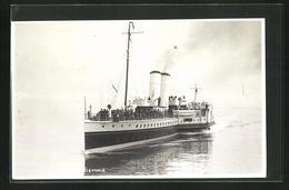 AK P.S. Devonia Fährt Unter Dampf Auf Spiegelglatter See, Passagierschiff - Piroscafi
